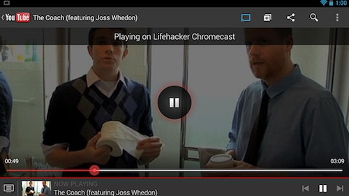 ステップ3:Chromecastを楽しもう!