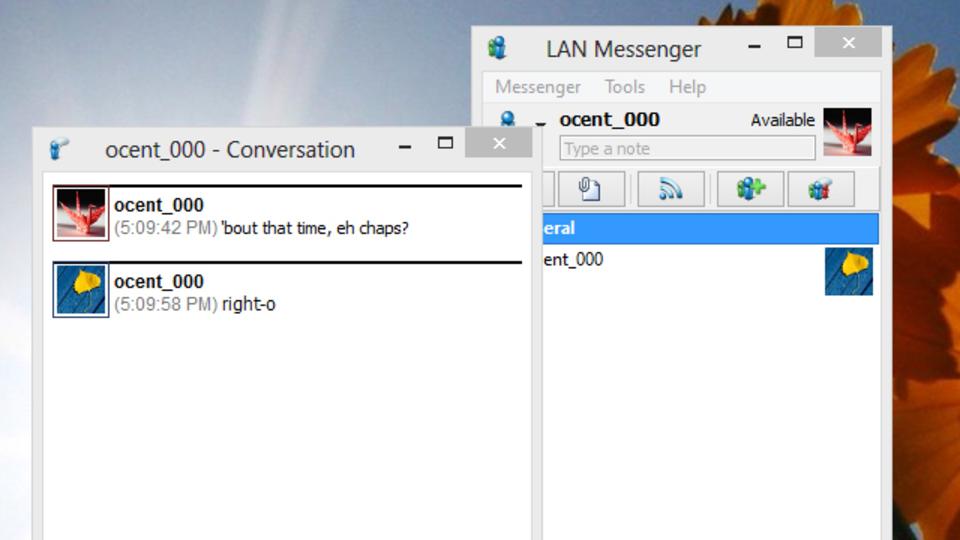 ローカルネットワーク経由でチャットできるIMアプリ『LAN Messenger』