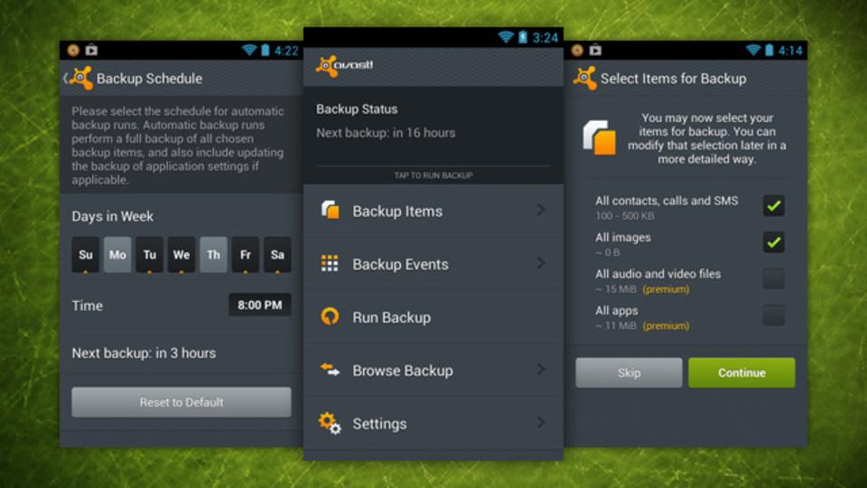 Googleドライブへ定期的にバックアップをするAndroid用ツール『Avast! Mobile Backup』