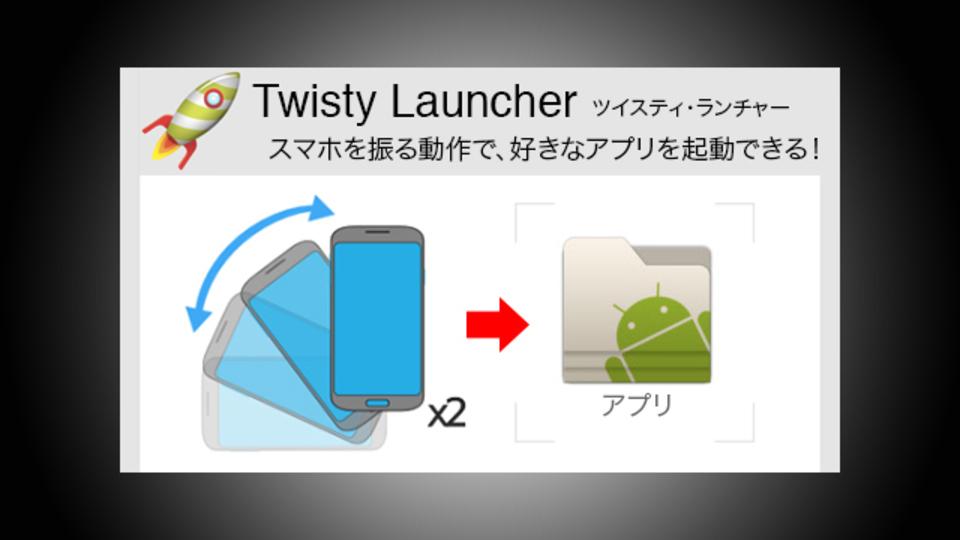 セキュリティロックを飛ばしてアプリを高速起動できる『Twisty Launcher』