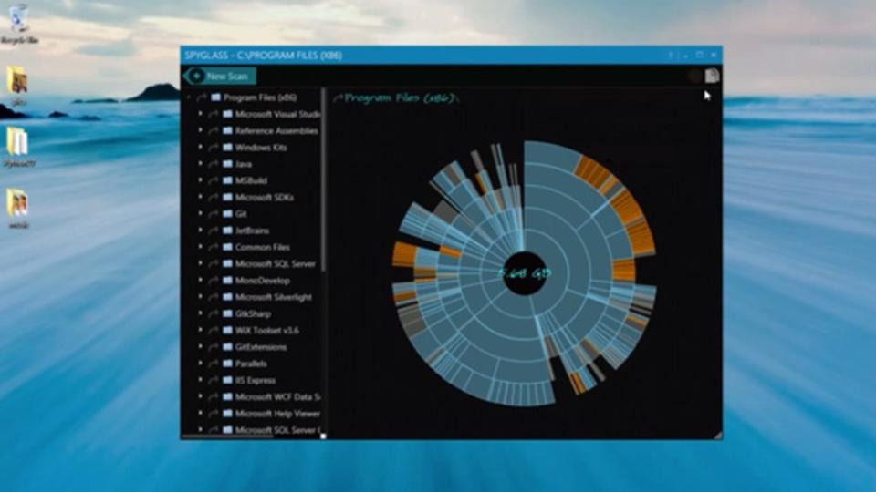 重複ファイルの検索も可! 退屈なハードドライブのスキャン作業を楽しくできる『Spyglass』