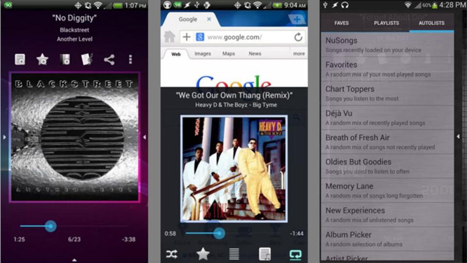 他のアプリを使っていてもすぐ操作できる! 機能性重視なら『Music Player (Remix)』