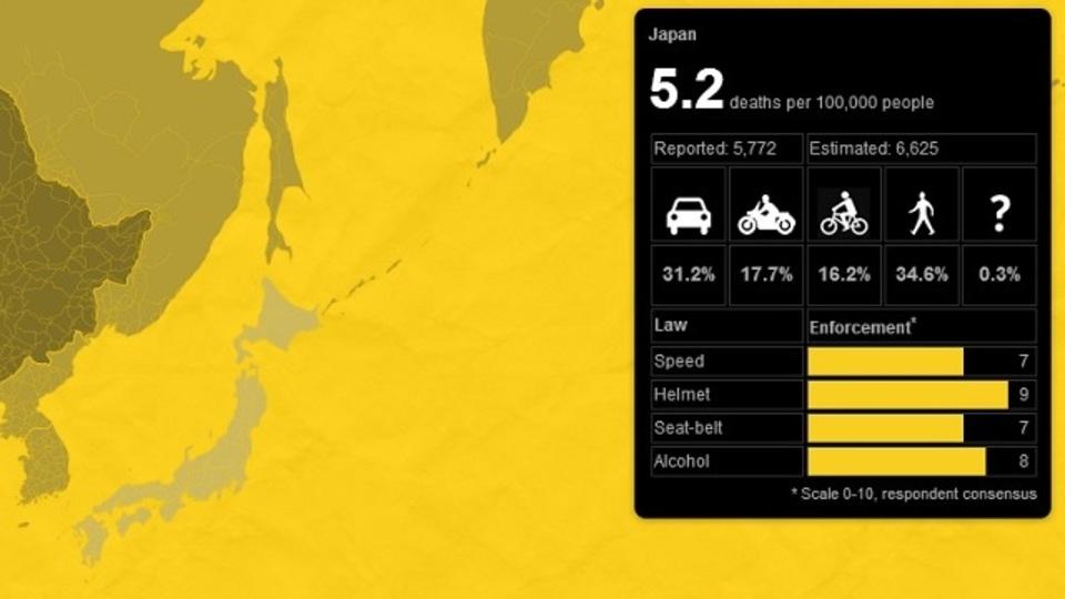 大島てるを超えるか? 世界の「交通事故死者数」を可視化したサイト