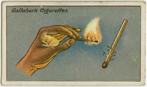 風が吹いていても、マッチの火を点す方法