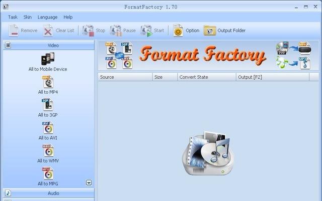 Format Factory(Windows)
