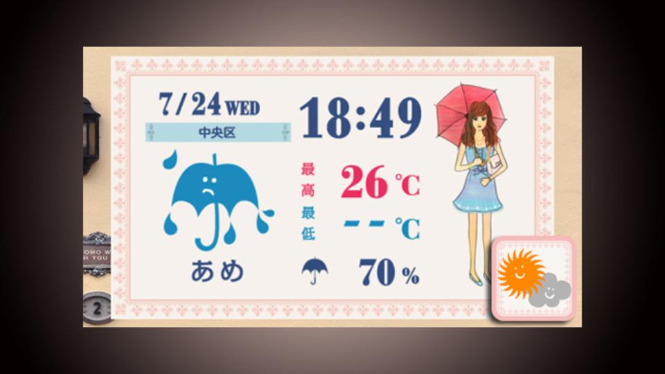 彼女をサポート! 今日のコーディネートと天気予報が一度にわかる『おしゃれ天気』
