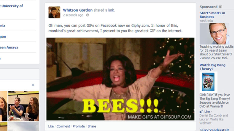 FacebookにだってGIFアニメを投稿したい! Giphyが叶えてくれました