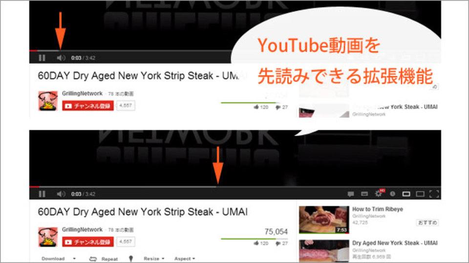 YouTubeの動画を数秒後まででなく最後まで先読みしてくれる拡張機能