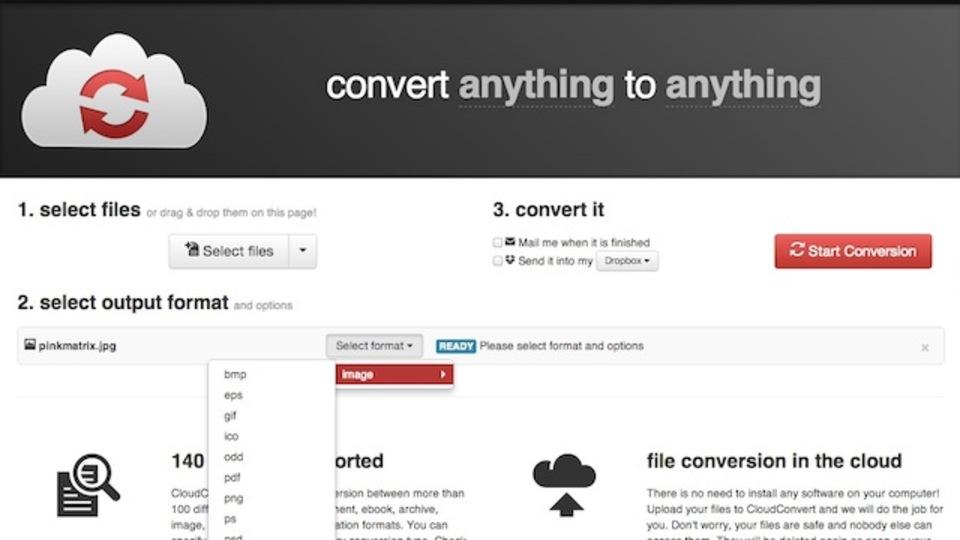 140種類に対応! あらゆる形式のファイルを変換できるウェブアプリ「CloudConvert」