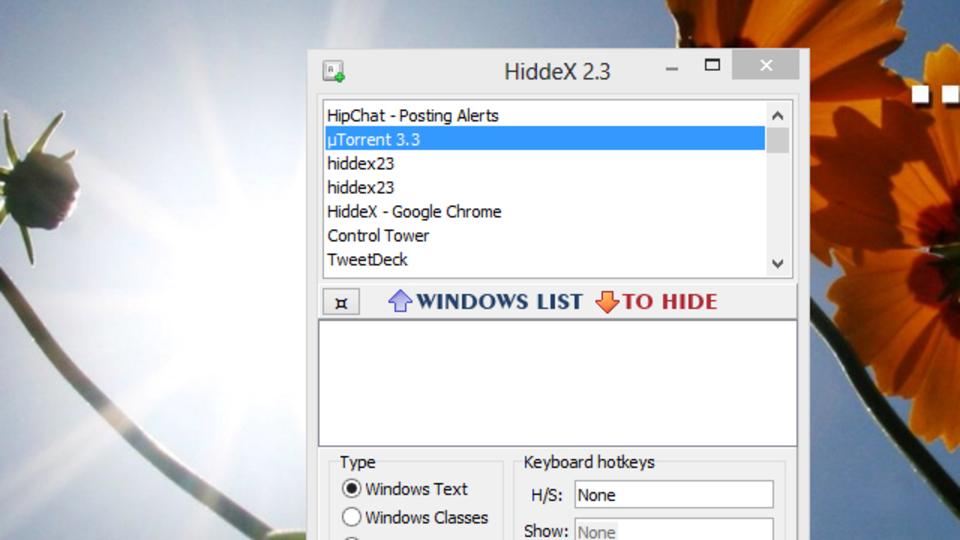 上司がデスクにやってきた! 『HiddeX』を使って特定のウィンドウだけを非表示にする