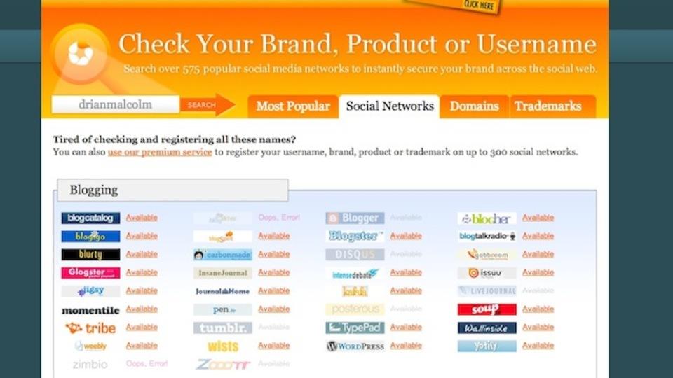 使っていないアカウントの整理の際は、よく使うユーザー名を「KnowEm」に打ち込んでみよう
