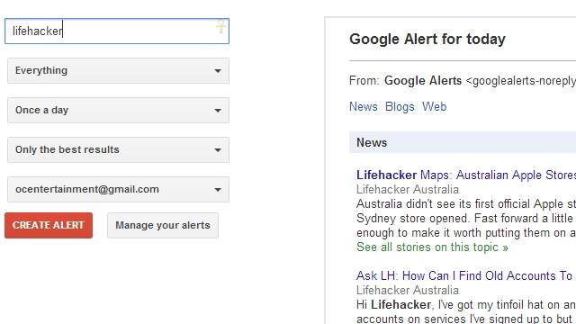 Googleアラートで事前通知を作成