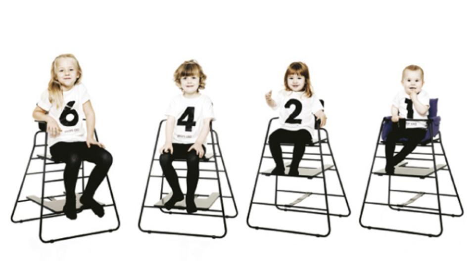 子どもと一緒に成長する椅子「TOWER chair」
