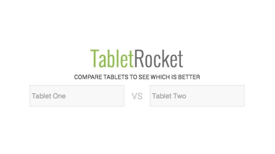 あらゆるタブレットのスペックを比較できるサイト「TabletRocket」