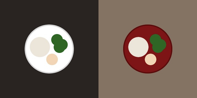 賢い色選びで食べる量を減らす