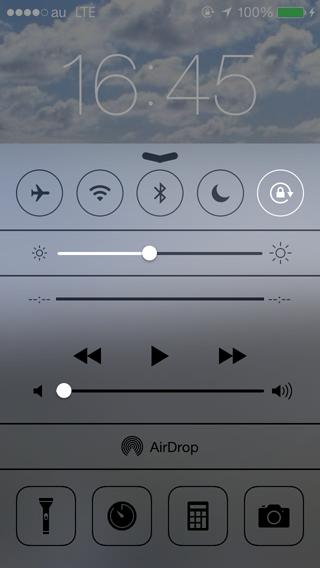 ミュージックアプリの操作はコントロールセンターから行おう