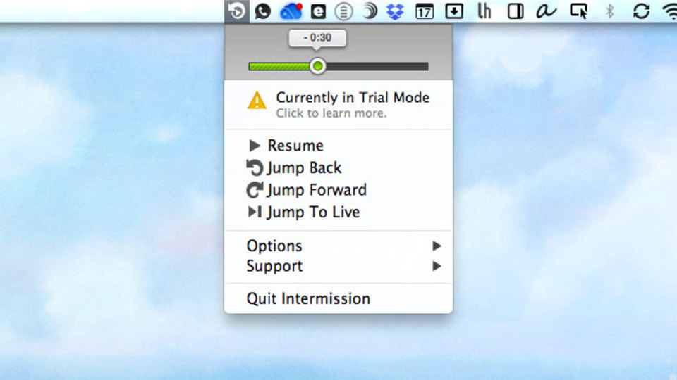 インターネットラジオなどの生放送に最適! Macで流れた音声を一時停止&巻き戻しできる『Intermission』
