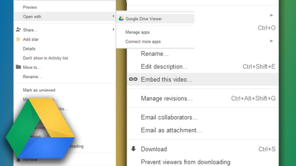 Googleドライブを使って動画をウェブページに埋め込む手順
