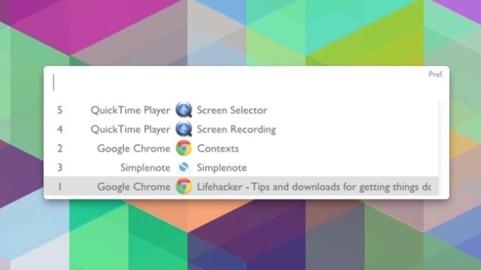 キーボード操作だけでウィンドウの切り替えができるようになるアプリ『Contexts』