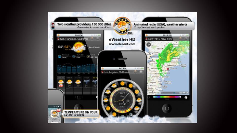 ニッチな情報までカバーした天気アプリ『eWeather HD』に気候のあらゆることを聞こう