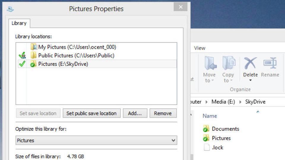 SkyDrive/Dropboxを使って複数のPC間でWindowsのライブラリを同期させる方法