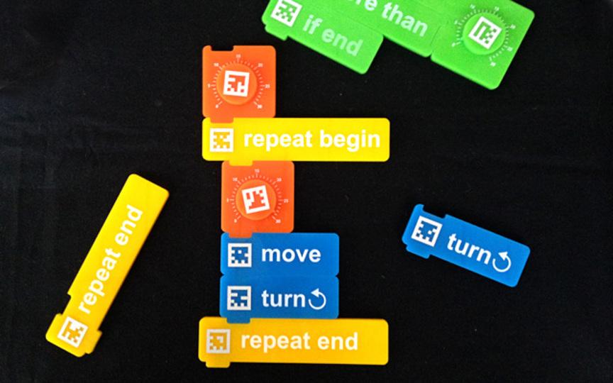 子どもと一緒に遊びたい。ブロックを組み合わせてコードをつくる「物質プログラミング」 #mft2013