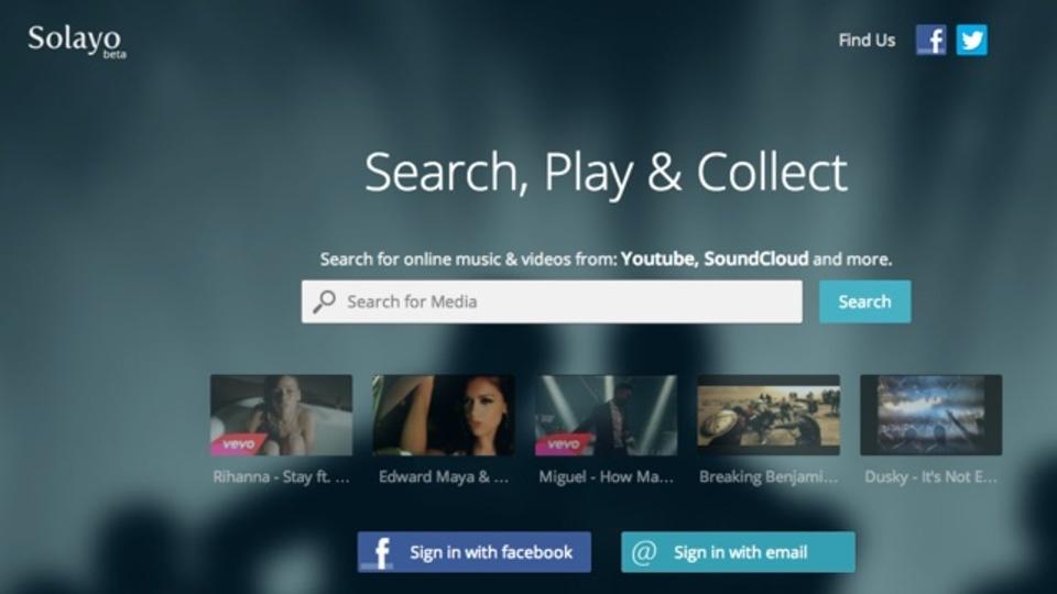 YouTubeやDailymotionなど動画サイトを横断検索できるサービス「Solayo」