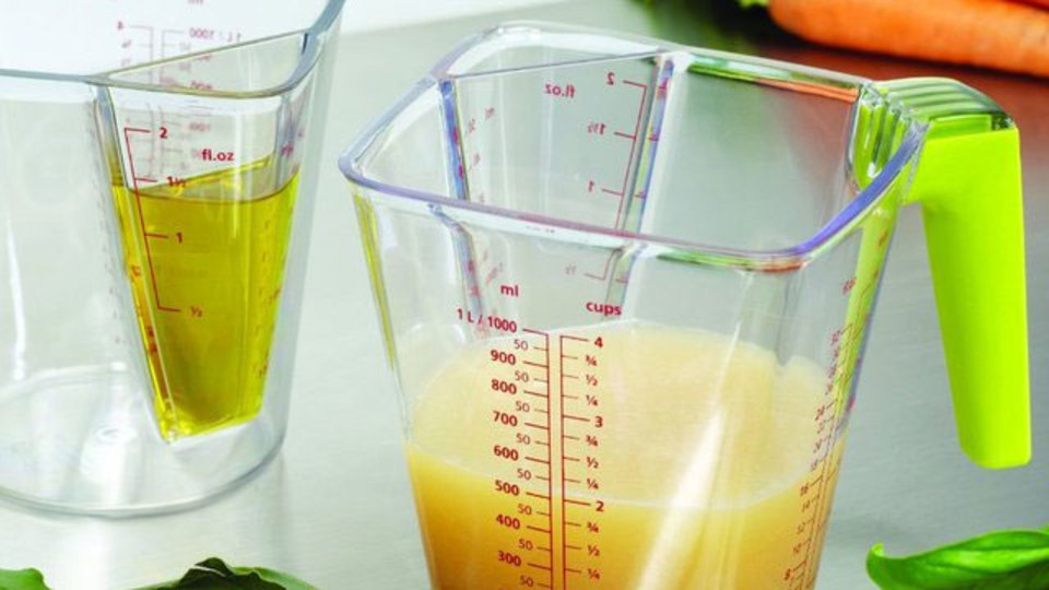 大小2つの計量カップが一体化したアイデア商品「2-in-1 Measuring Jug」