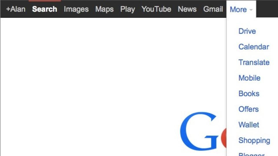 Googleの黒いメニューバーを復活させるカスタムURL