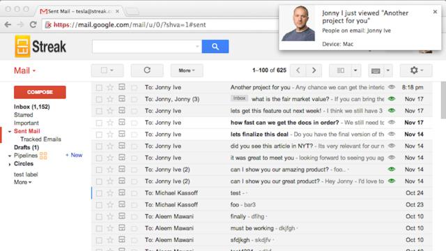 Gmailの未読メッセージを追跡できる無料のブラウザ拡張機能『Streak』