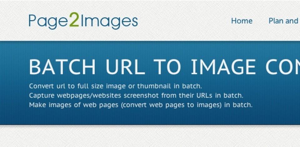 URLを指定したページのスクリーンショットを保存してくれる「Page2Images」