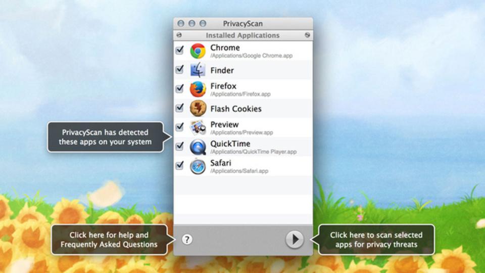 Mac上の漏らしたくない情報を数クリックで削除してくれる『PrivacyScan』