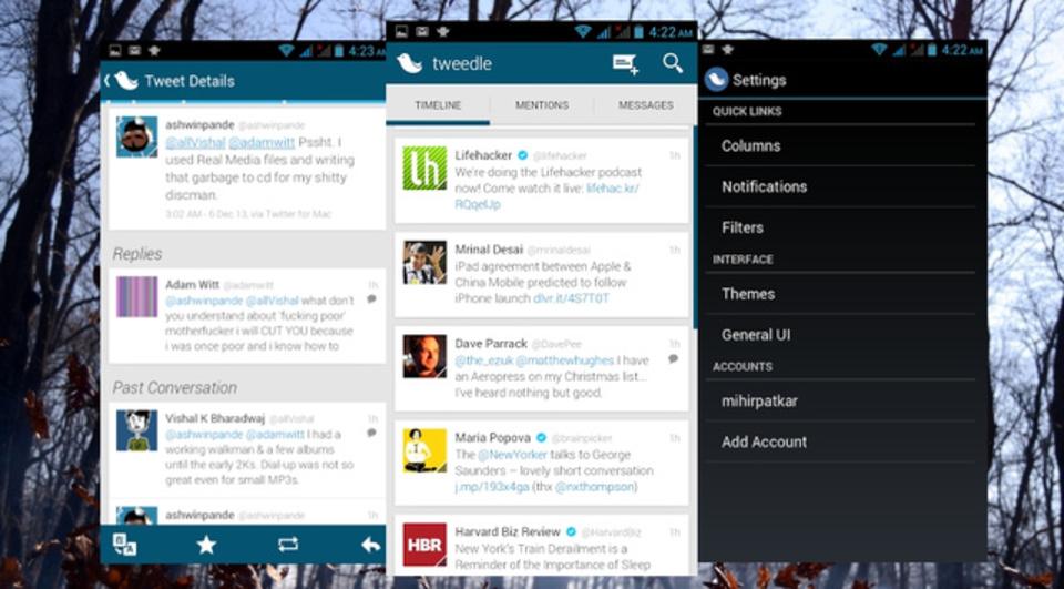 『Tweedle』は無料、シンプル、美しくて抜群に安定したTwitterクライアント