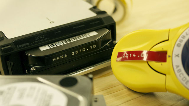 カセット感覚でHDDにラベルを貼るというのも、いいかもしれません