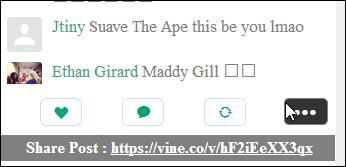 Vine For Chromeメニュー