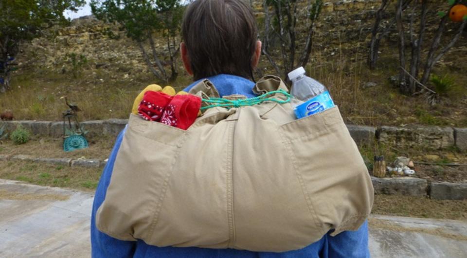 ほんとに簡単だった、ズボン1本でDIYできるバックパック