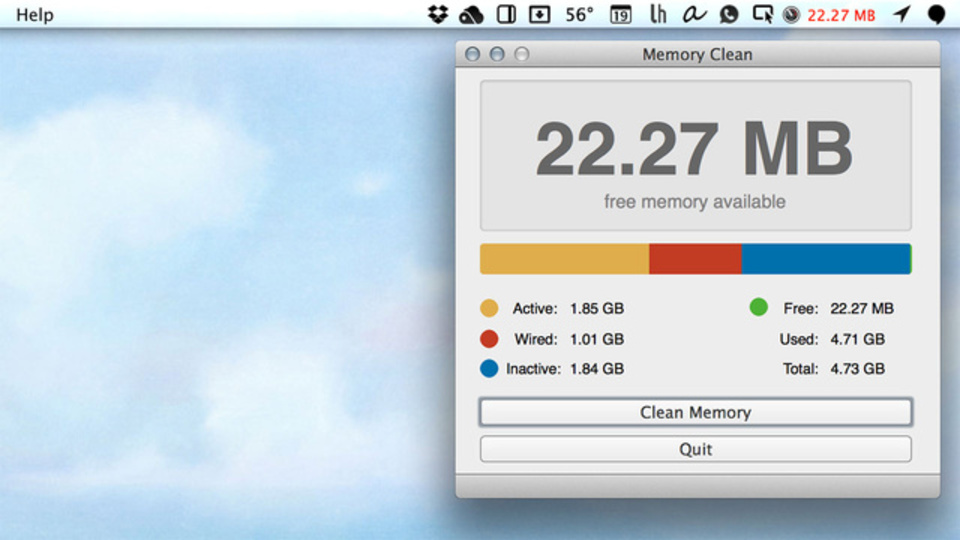 Macが遅い! そんな時に使いたい、未使用のRAMを解放してくれる『Memory Clean』