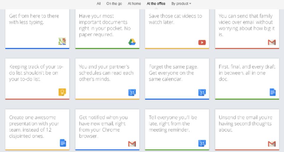 Googleサービスの小ネタを調べられるサイト「Google Tips」
