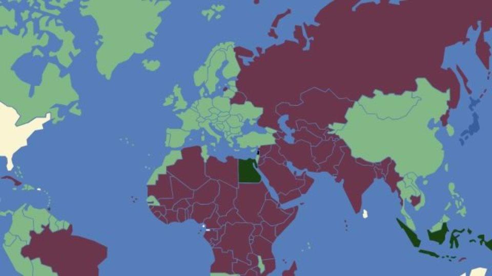 どの国に行くのにビザが必要かを地図で確認できるサイト「VisaMapper」