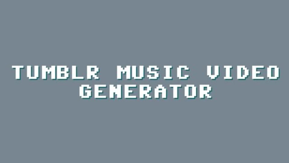 Tumblrの写真を音楽に合わせてランダム再生してくれるサービス「Tumblr Music Video Generator」