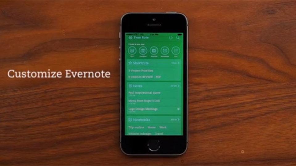 iOS用Evernoteアプリがアップデート:ホーム画面のカスタマイズ、テーマカラー変更などが可能に