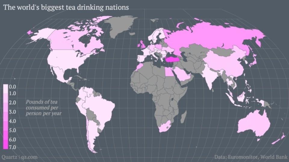 世界一紅茶が好きな国は、日本の3倍以上飲んでいるらしい