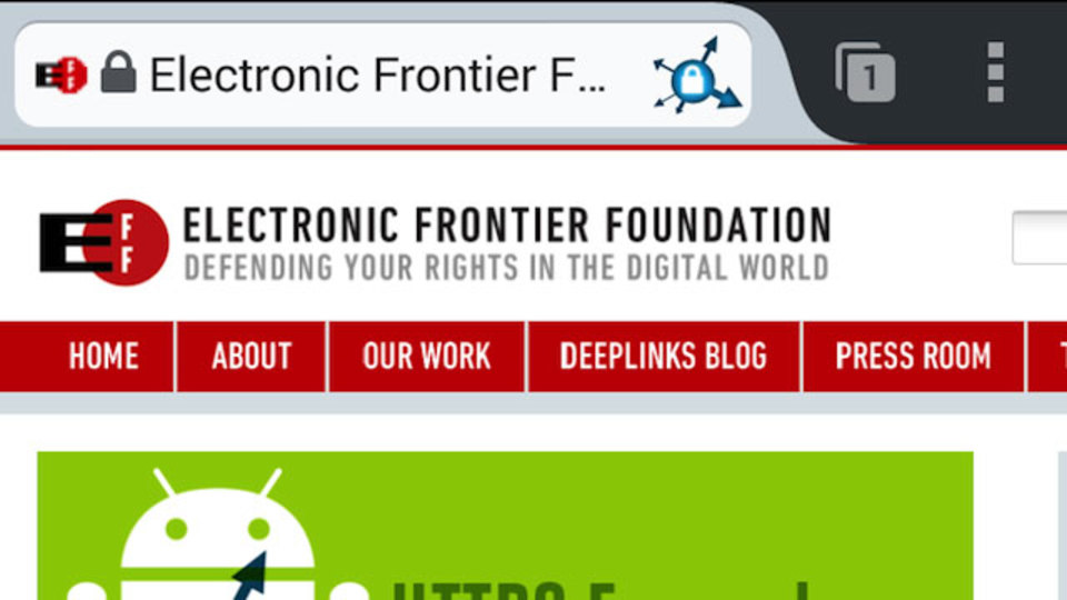 自動でHTTPSサイトへ誘導する『HTTPS Everywhere』に、Android版が登場