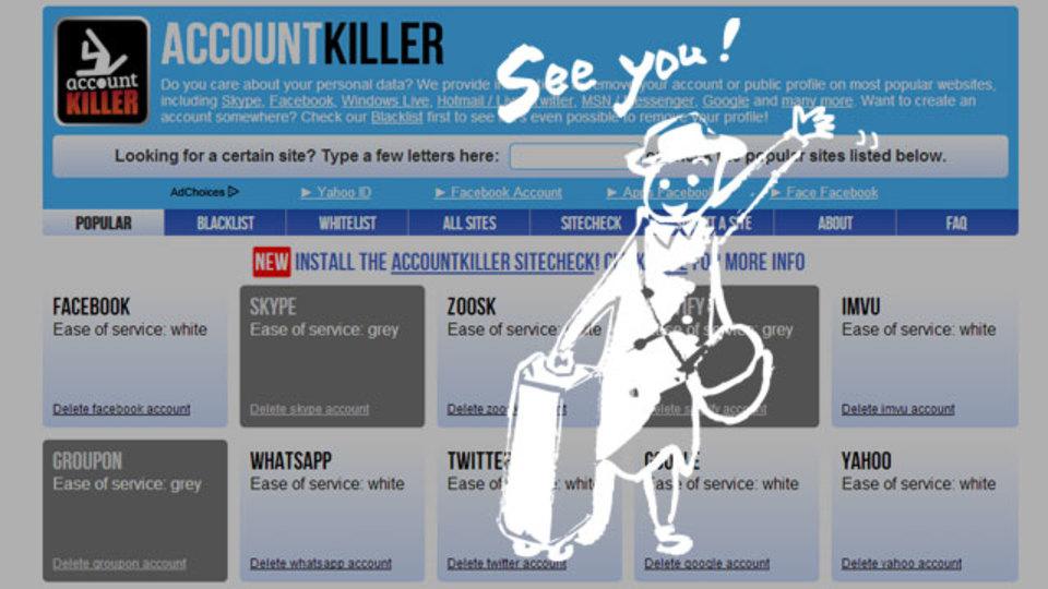 各ウェブサービスの「退会しやすさ」を教えてくれる『ACCOUNT KILLER』
