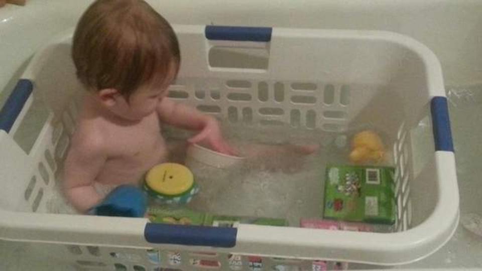 「洗濯カゴ」で乳幼児のお風呂タイムは進化する