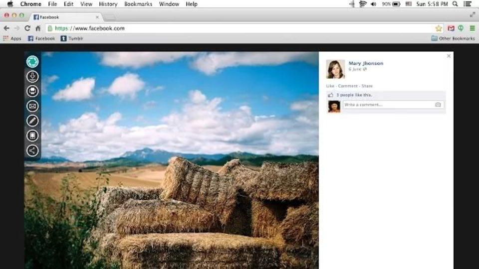 Facebookの写真を加工してダウンロードできるChrome拡張機能「Photon」