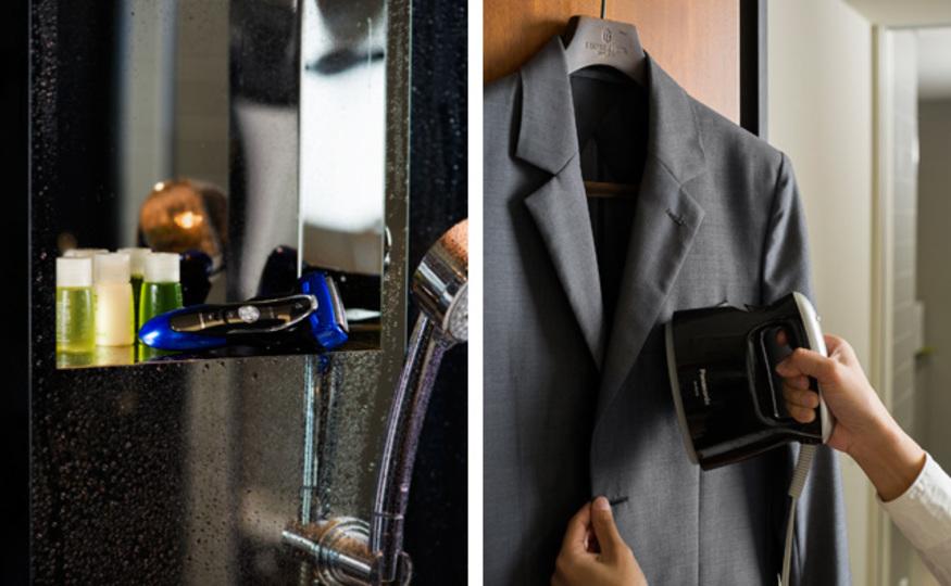 「朝の儀式」のススメ:シェービングとスーツのシワ取りを手短に済ませ、仕事モードを作り出す