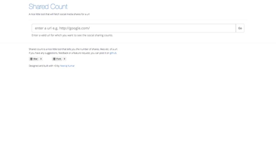 ウェブ記事がSNSでどれくらい言及されたかをサクッと確認できる「Shared Count」