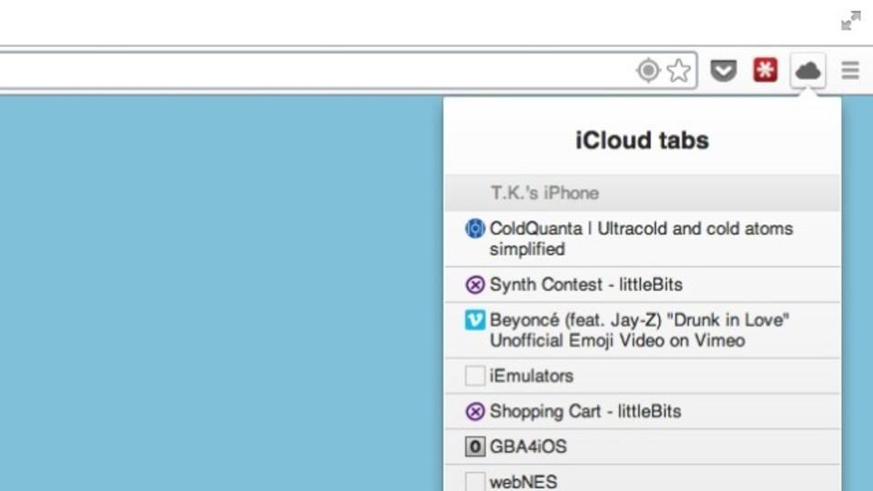 iCloudのブックマークをChromeにインポートできる『ThunderCloud』