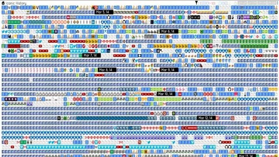 閲覧履歴をファビコンで表示するChrome拡張機能「Iconic History」